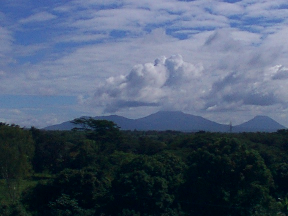 A shot of some volcanoes in western Nicaragua, near one of my consulting sites